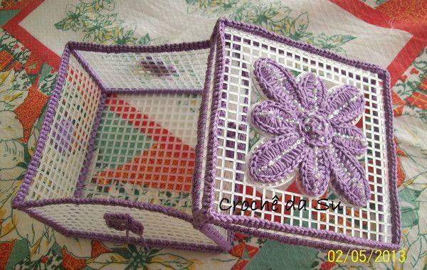 Jewelry Box in Elo7 | Su's Crochet (312F69)- Porta Joias…