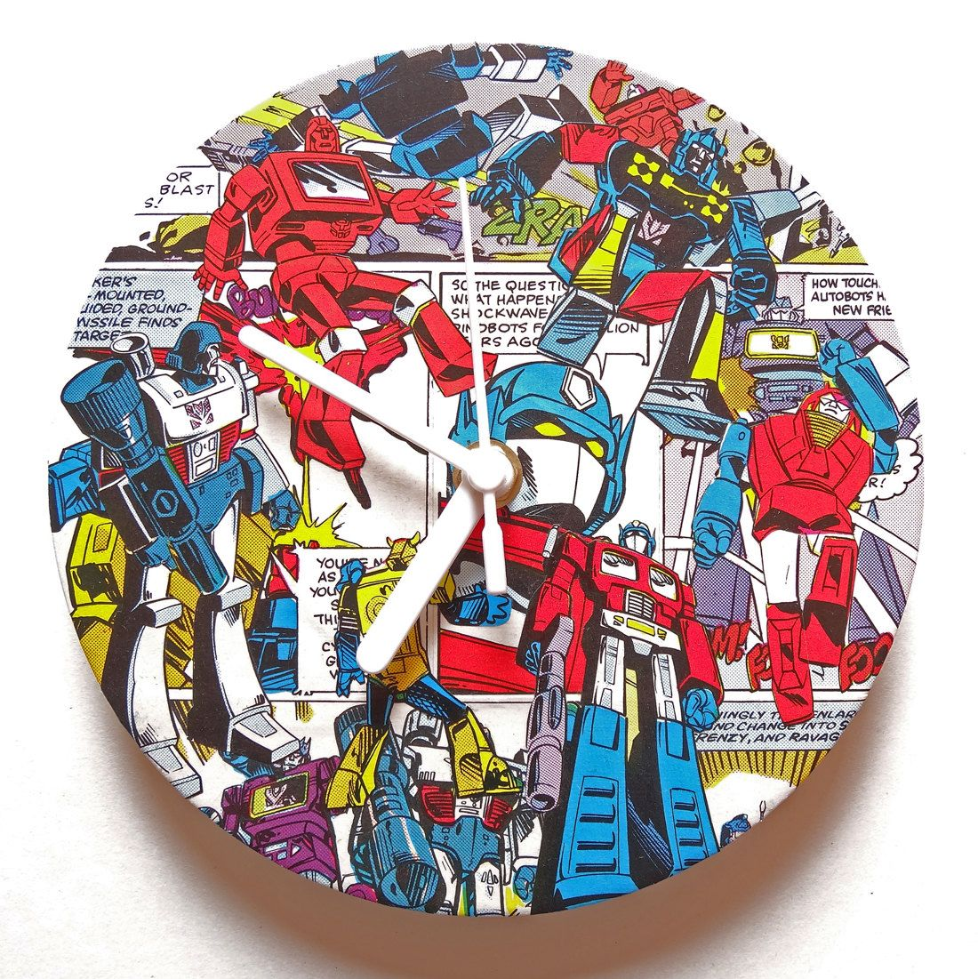 Transformers Comic Collage Clock | *TIME*-TASTIC | Pinterest