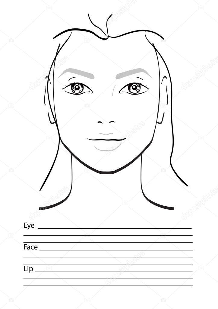 depositphotos_117069370-stock-illustration-face-chart ...