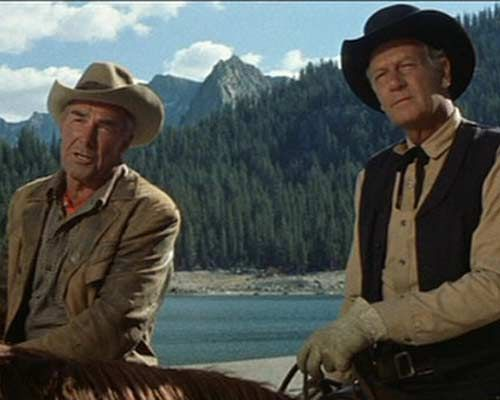 """Randolph Scott and Joel McCrea in """"Ride the High Country"""" 1962"""