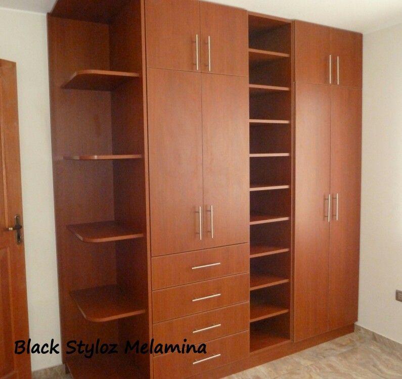 Closet en melamina cerezo de novopan blackstyloz for Armarios melamina modelos