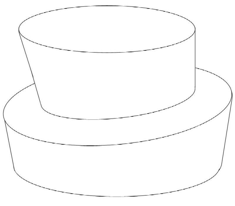 Tiered Cake Design Template : 2-tier round topsy turvy Cake Templates Pinterest ...