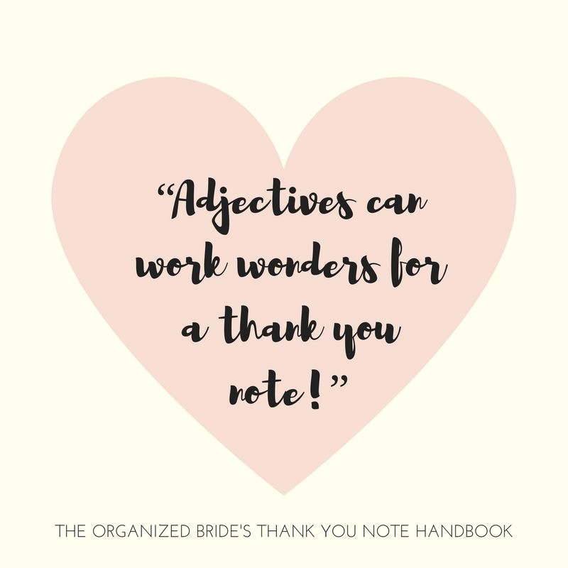 Adjectives Work Wonders For A Thank You Note Quote From The