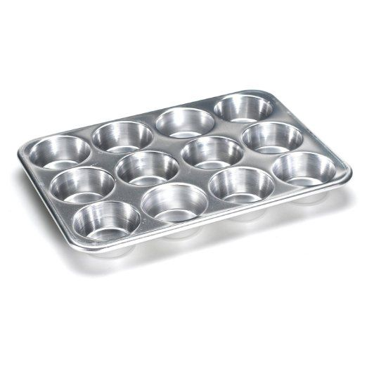 Amazon.com: Nordic Ware Natural Aluminum Commercial Muffin Pan, 12 Cup: Kitchen & Dining