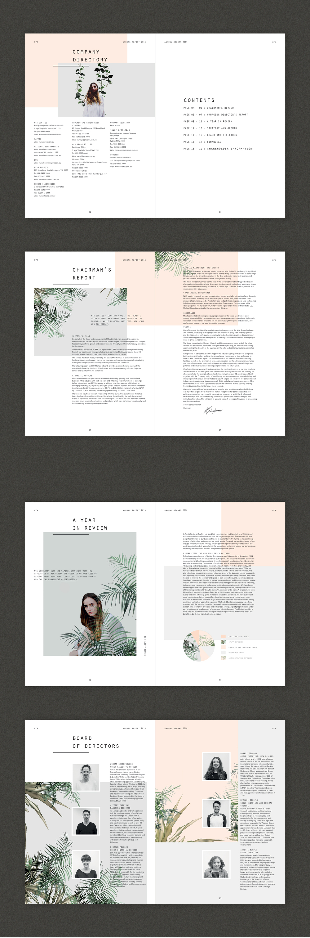 Mya Annual Report On Behance Mise En Page Graphisme