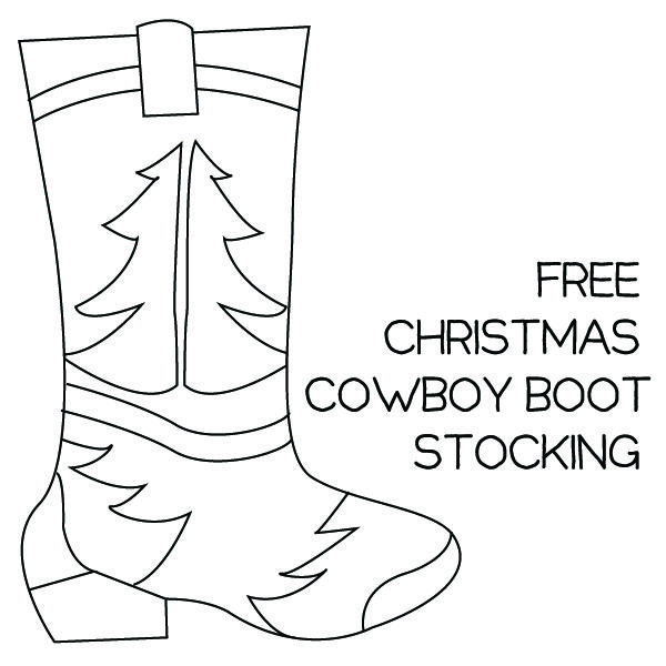 Free Cowboy Boot Christmas Stocking Pattern Stocking