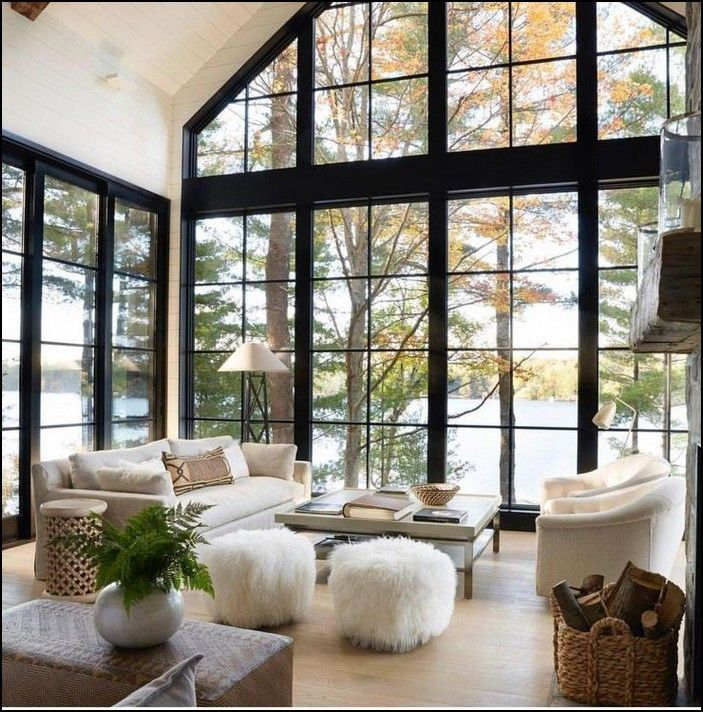 100+ modern lake house living room tour page 32 images