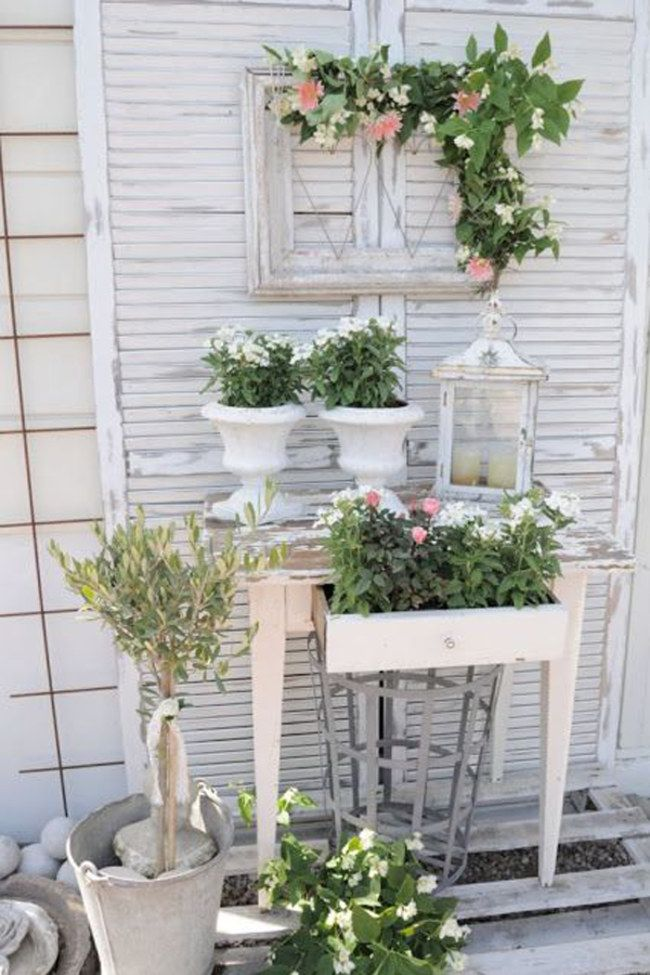 shabby chic selber machen der romantik look f r zuhause shabby gardens and balconies. Black Bedroom Furniture Sets. Home Design Ideas