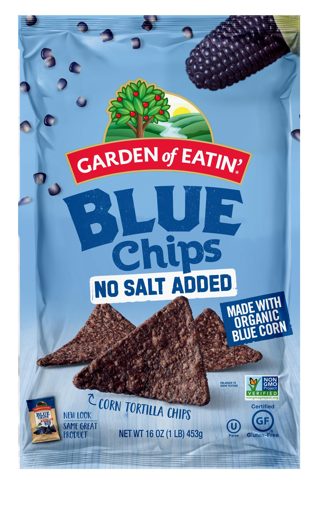 No Salt Added Chips, Food, Blue corn