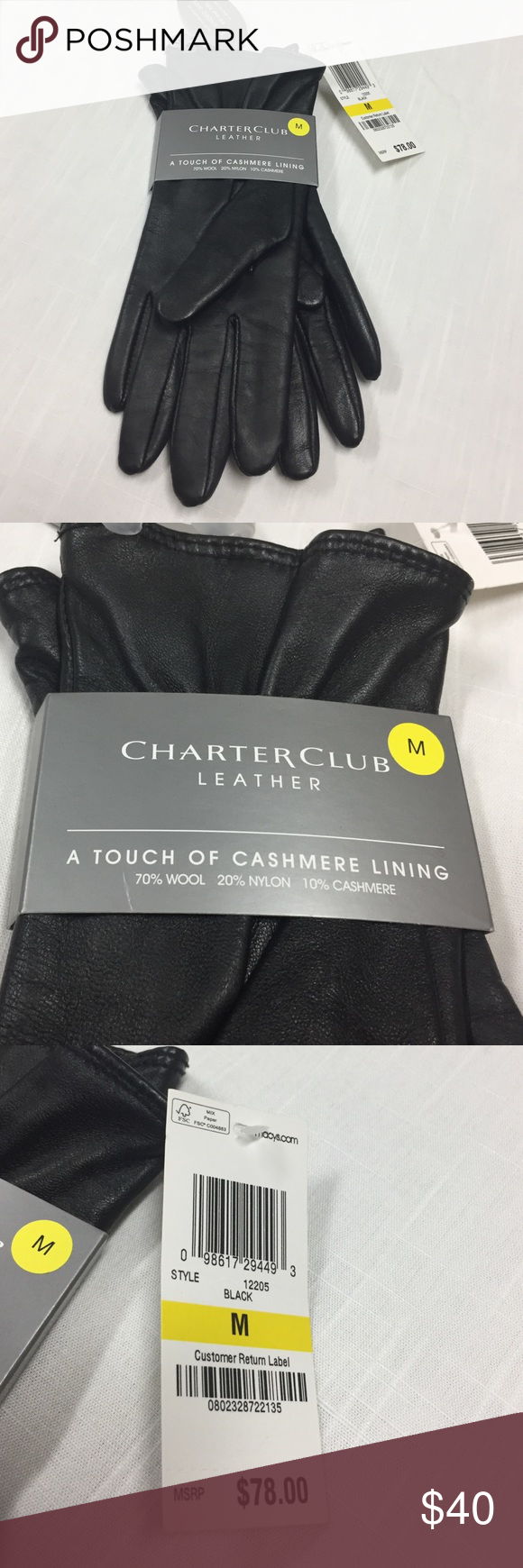 Black leather gloves small - Black Leather Gloves Lined With Cashmere Brand New Pair Of Soft Leather Gloves Lined With