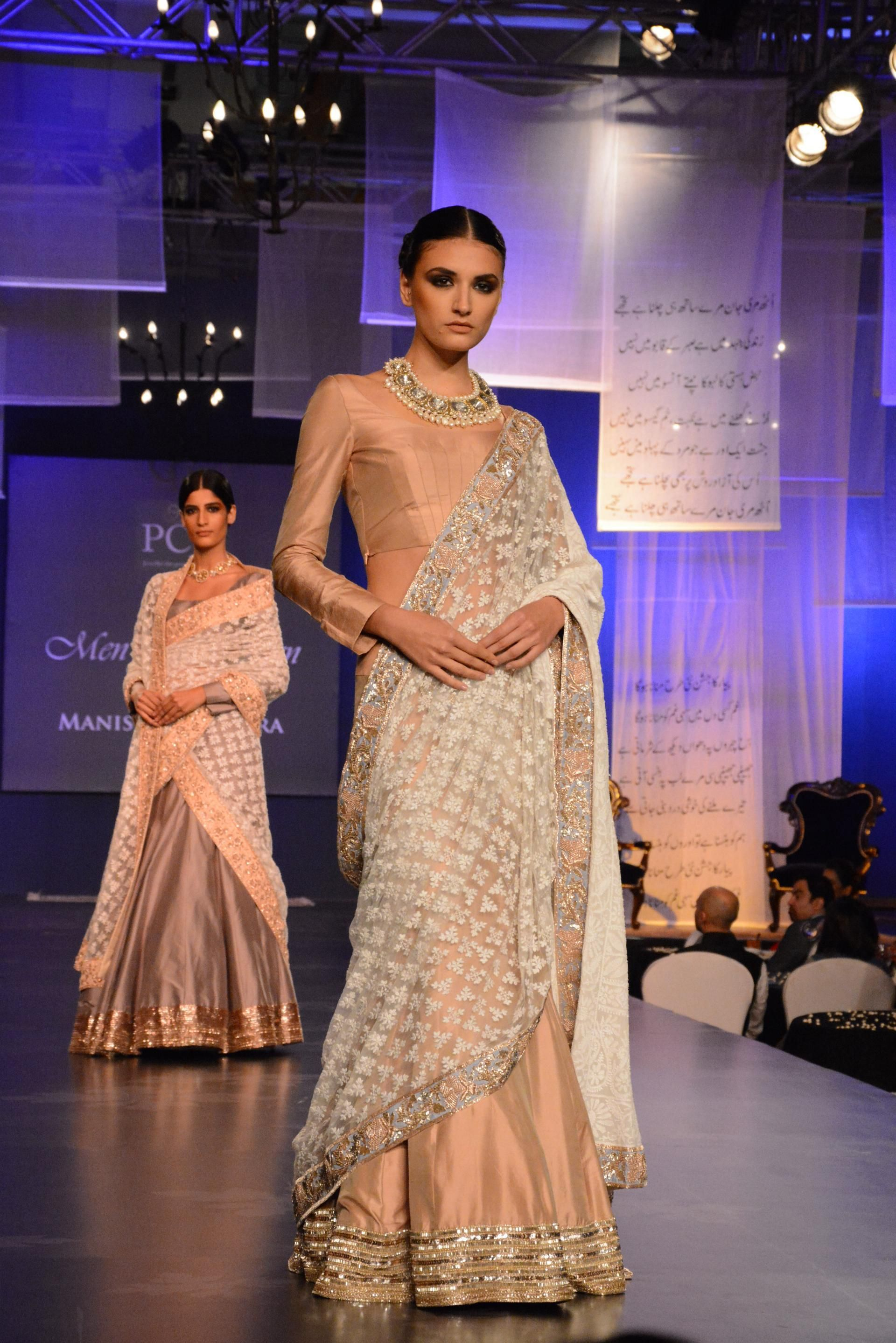 nude fashion Gorgeous nude design with gold detailing from Manish Malhotra during `Men  for Mijwan` at