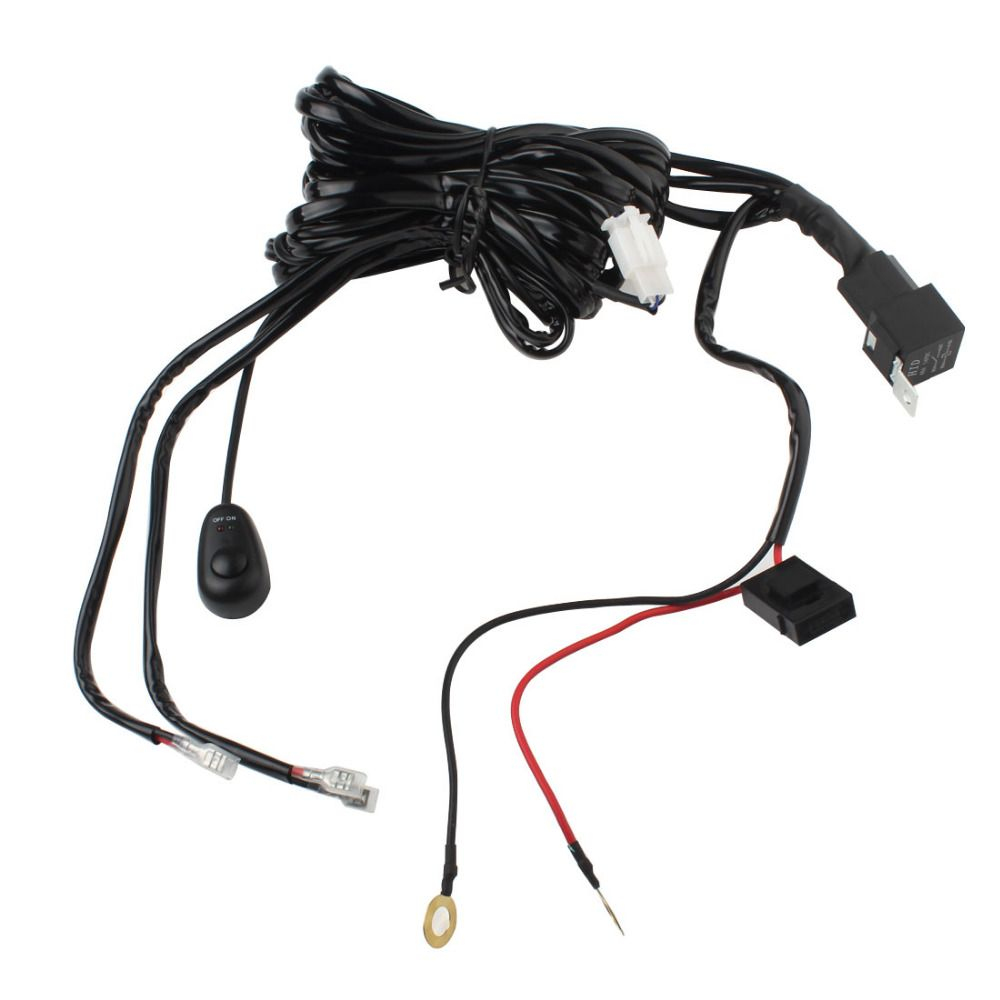 Hot Universal 12V 40A Car Fog Light Wiring Harness Kit