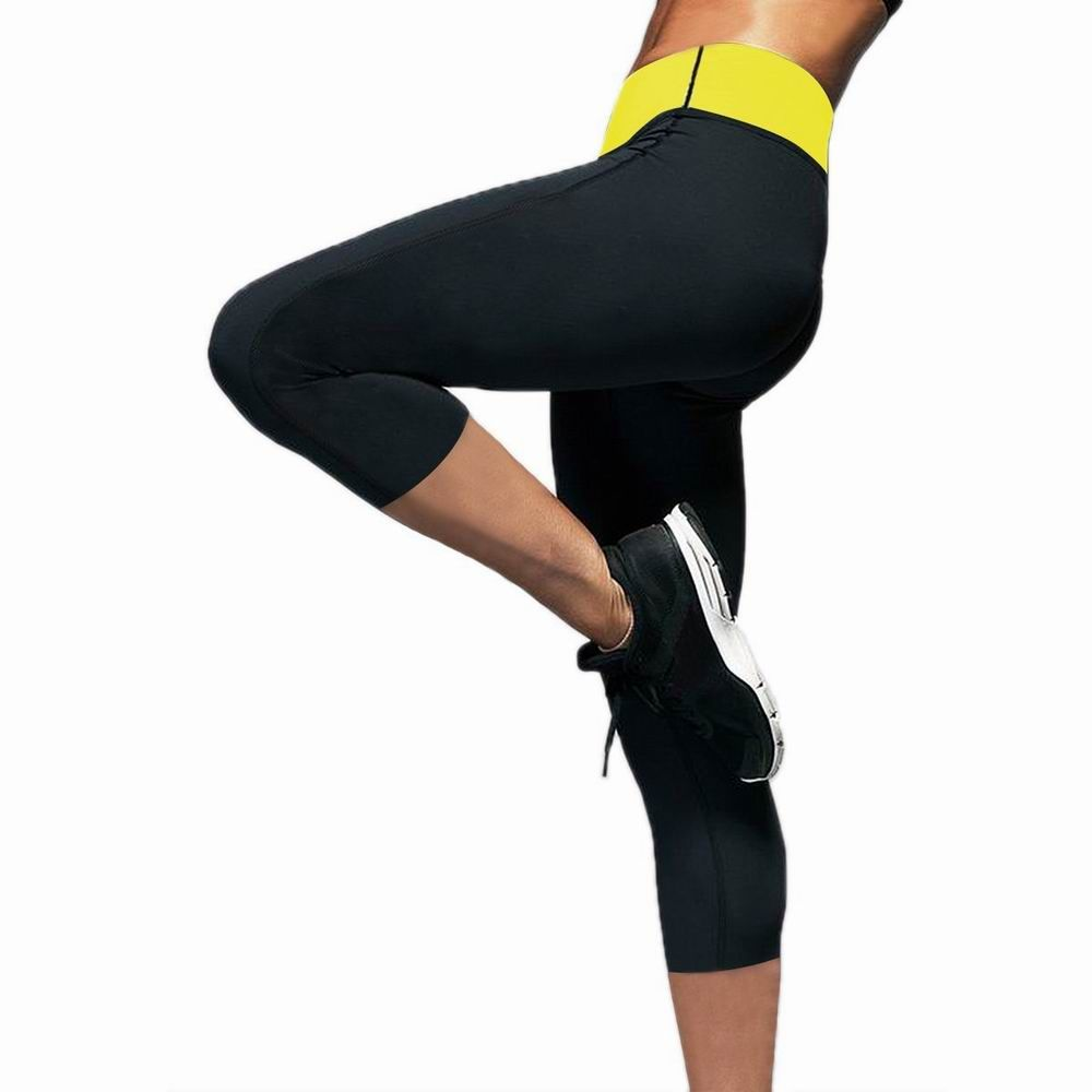 cdc191d99e868 Weight Loss Slimming Body Shapers Yoga Sports Short Capri Pants Thermo  Fitness Stretch Sweat Sauna Neoprene