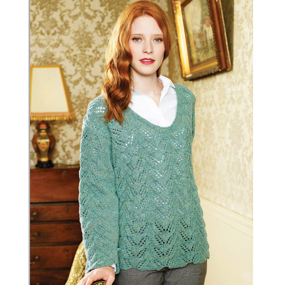 Knit This Lovely Lacy Top Layer | Sweater knitting patterns, Lace ...