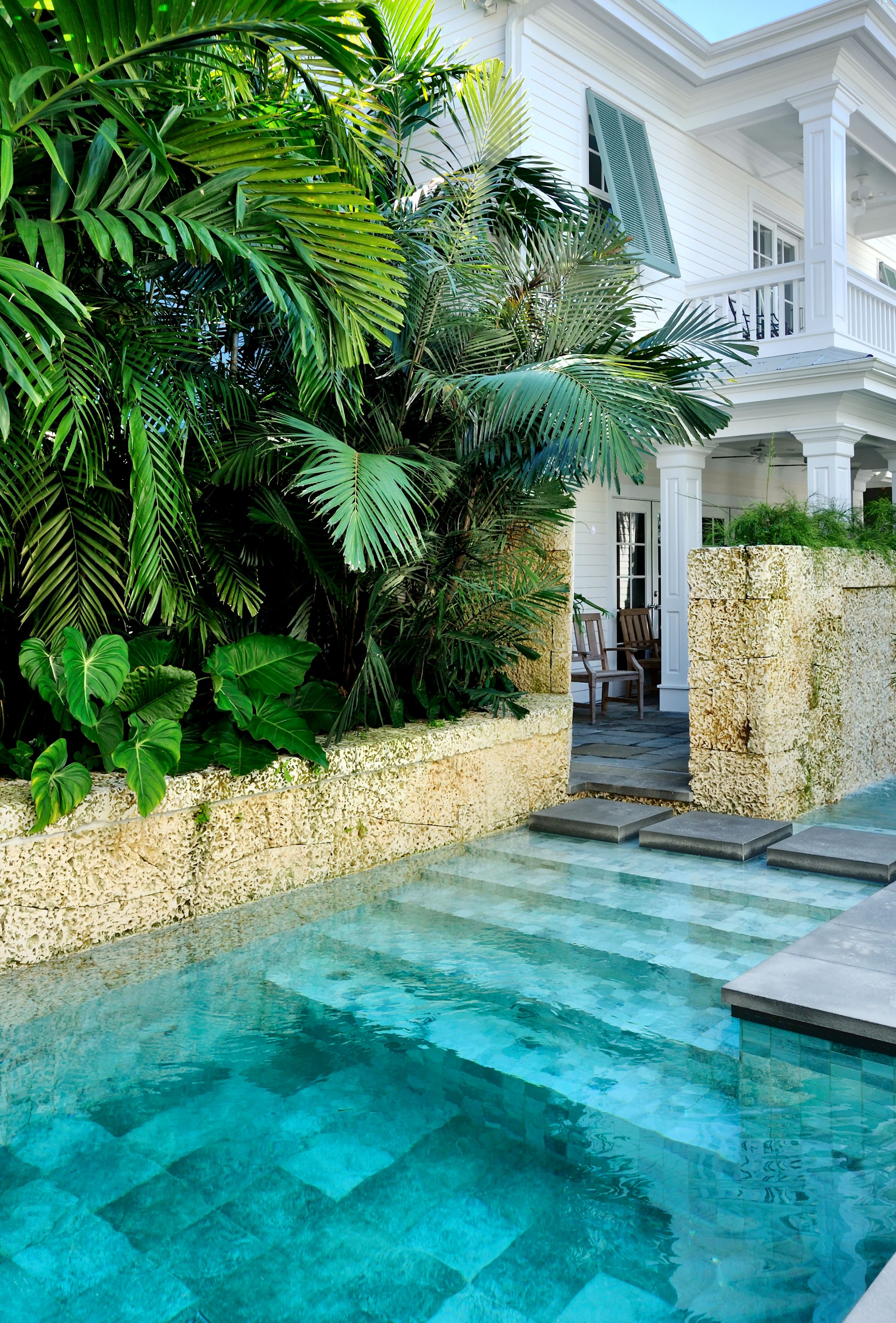 Piscine design dans un jardin tropical | Piscine | Pinterest ...