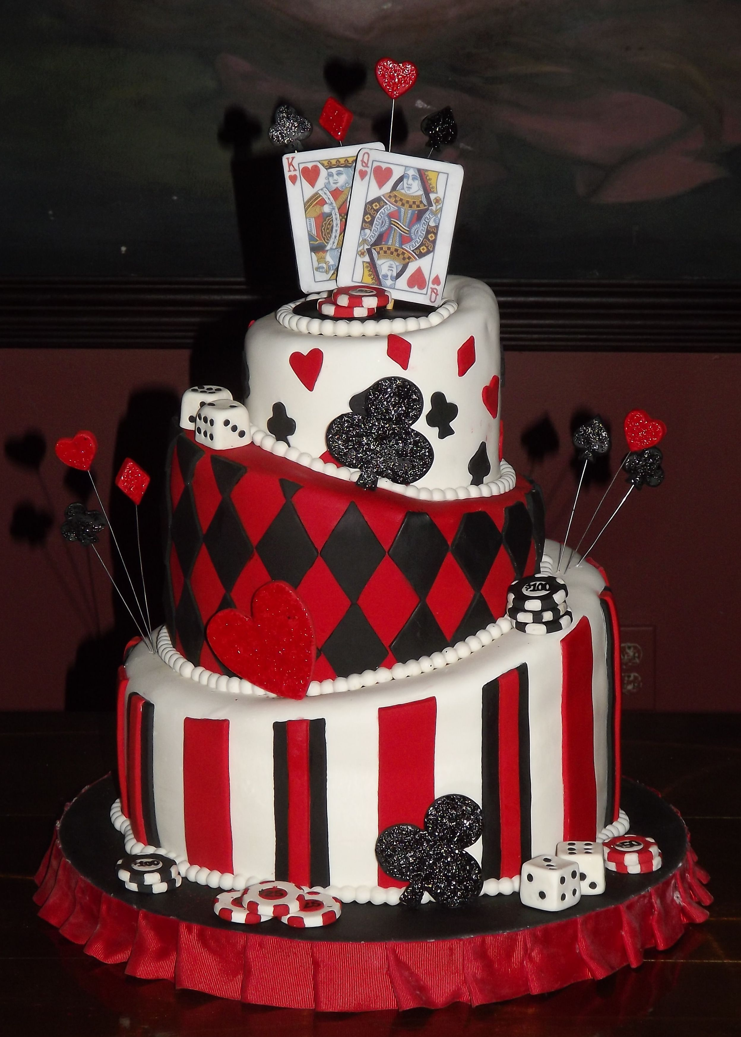 Casino Themed Wedding Cake Cakes By Art Of Confection