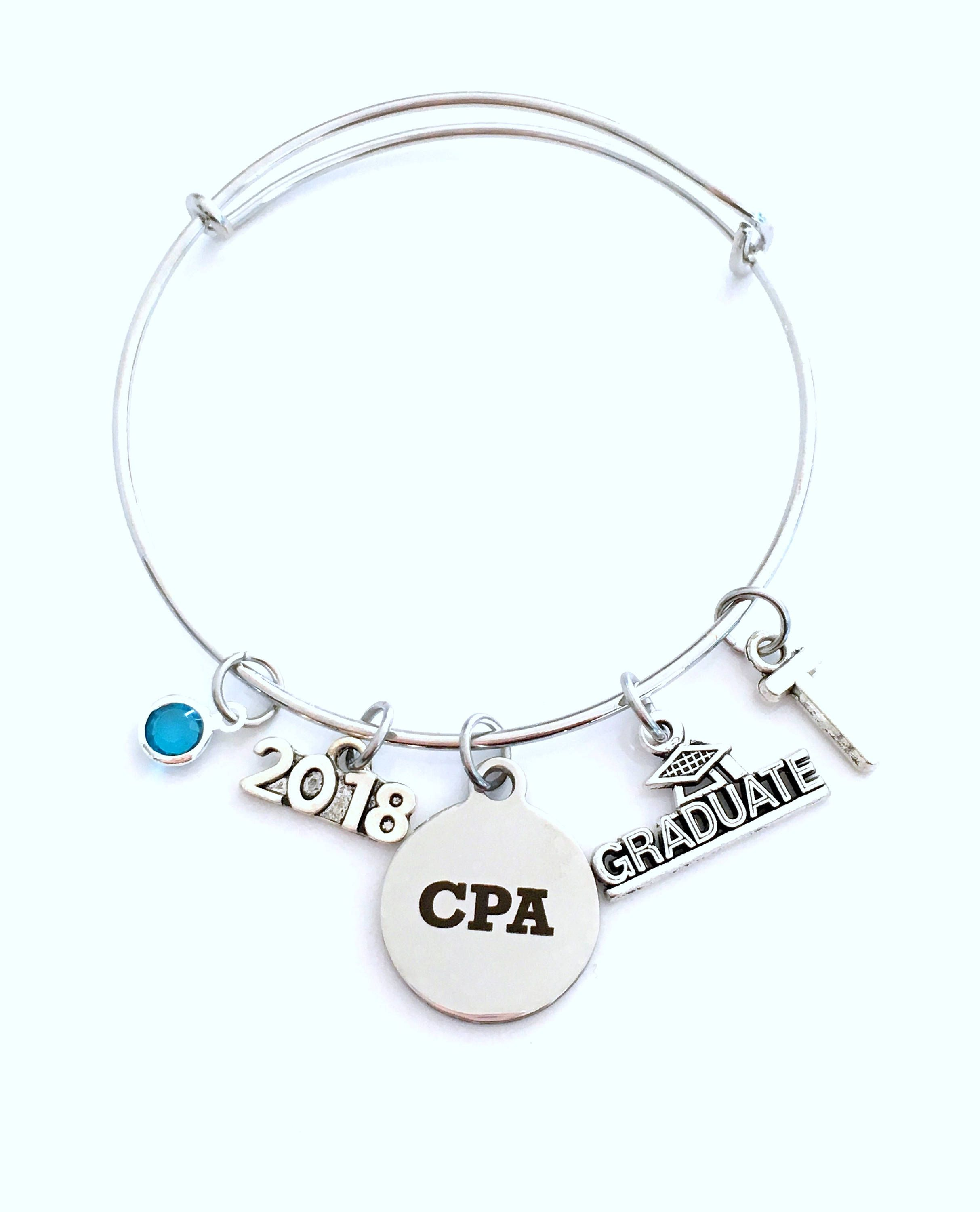 Chartered Accountant Cpa Graduation Gift For Cpa 2018 Charm Bracelet Chartered Accountant
