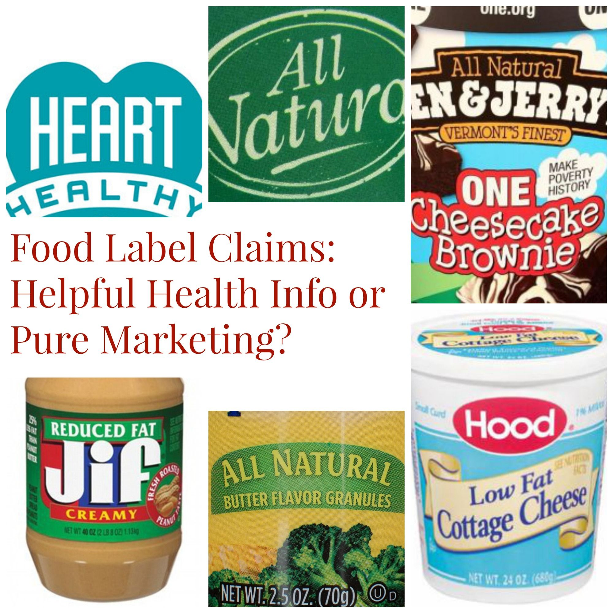 Food Label Claims Helpful Health Info Or Pure Marketing