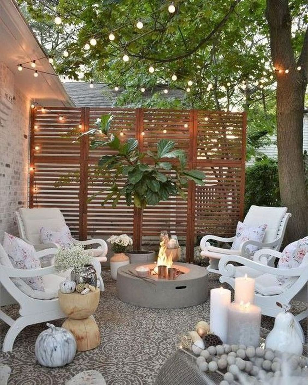 20 Inspiring Outdoor Patio Design For Your Garden Trenduhome Small Outdoor Patios Small Backyard Landscaping Backyard