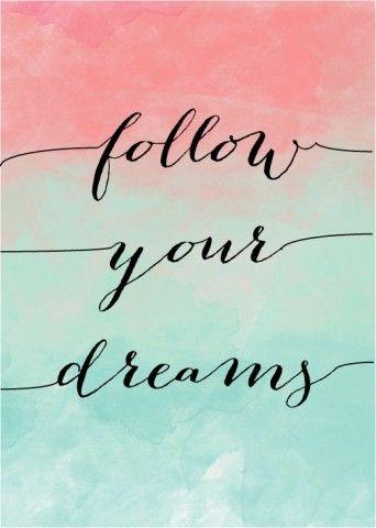 Follow your dreams watercolour art print   Watercolor art ...