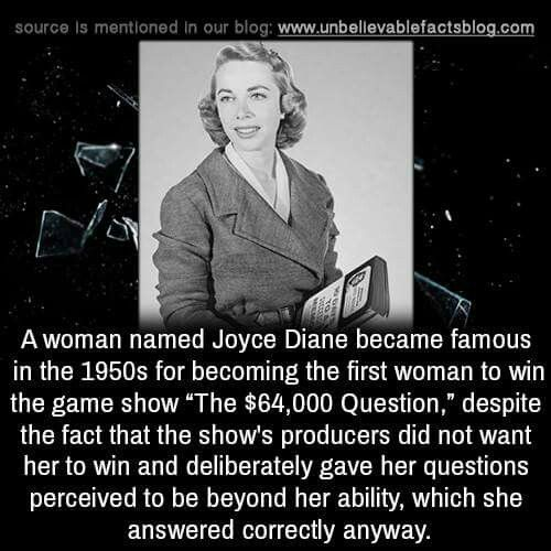 Otherwise known as Dr. Joyce Brothers.