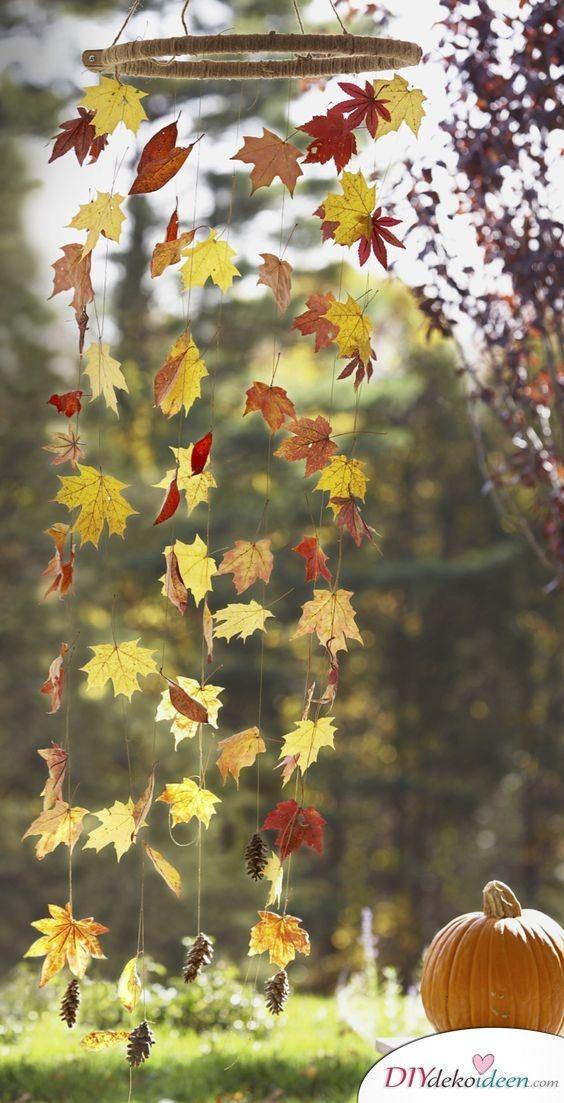 Herbstdeko selber machen - 15 DIY Bastelideen für die dritte Jahreszeit #diyhalloweendéco