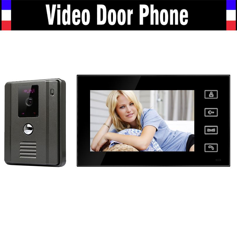 7inch 800*480 LCD Video Door Bell Monitor Infrared Camera Video Intercom System