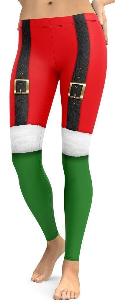 Spice up your Christmas workout with these high-quality squat proof holiday leggings. Designed to mi...