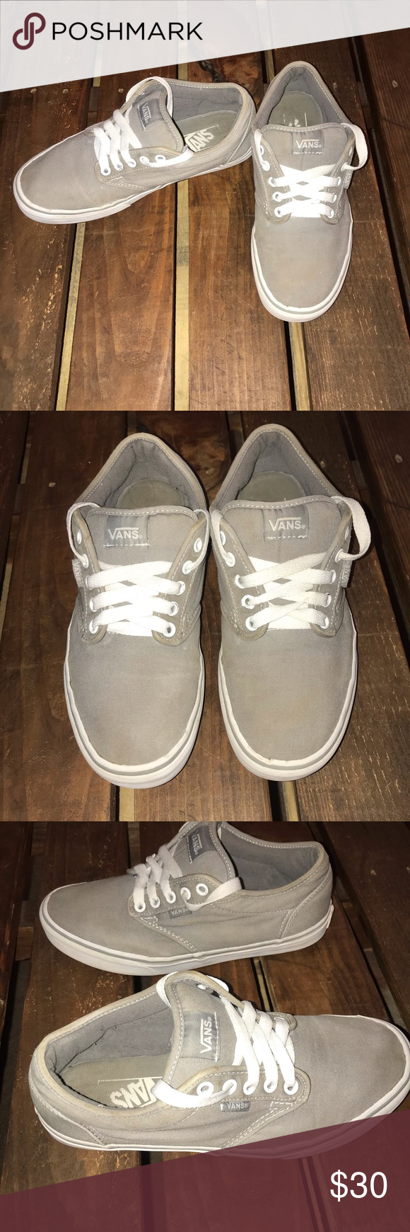 Vans with puffy tongue | Vans, Womens shoes sneakers, Gray vans