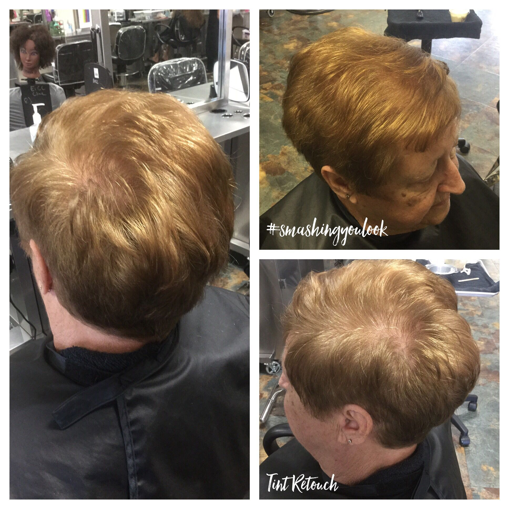 Tint retouch using 15g 77/0 15g 88/0 30g 20vol. Used 10g blondor ...