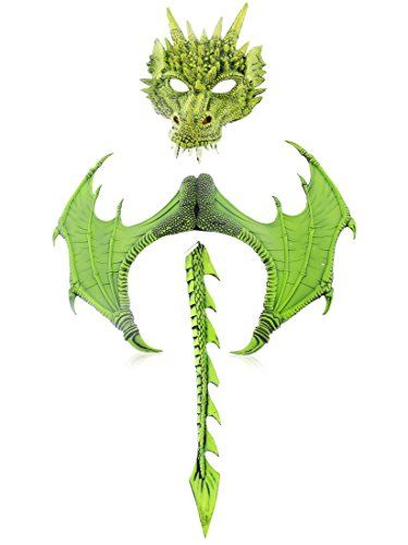 3-Piece Halloween Dragon Costume for Adults - Mask Wings... //.amazon.com/dp/B075847RJL/refu003dcm_sw_r_pi_dp_x_cob3zb2P5C7S1  sc 1 st  Pinterest & 3-Piece Halloween Dragon Costume for Adults - Mask Wings... https ...