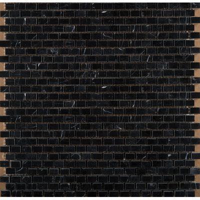 """Emser Tile 12"""" x 12"""" Marble Mosaic Tile in Black"""