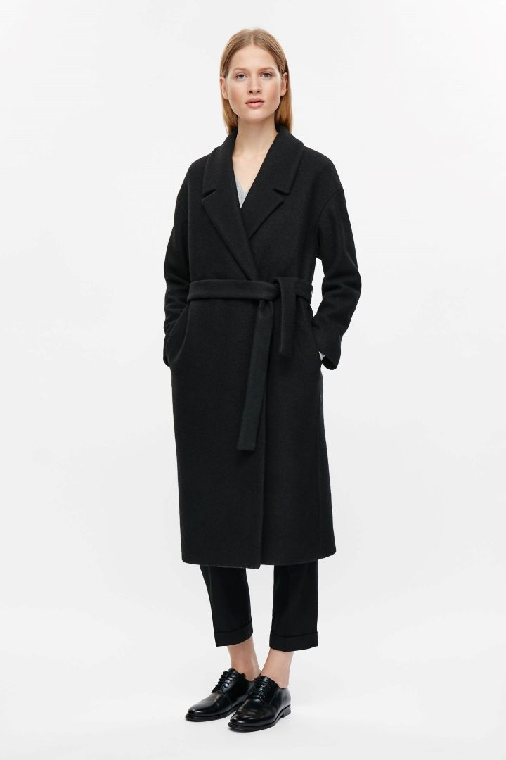 Belted wool coat - Black - All Articles - COS DE | Coats, Wool and ...
