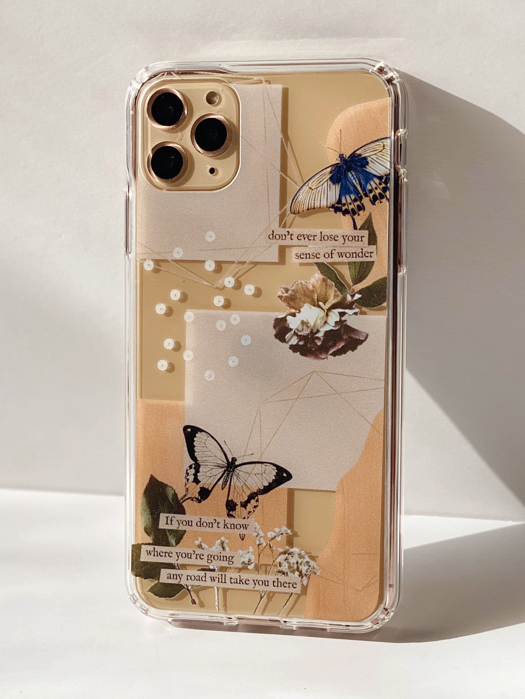 Aesthetic abstract butterfly collage clippings clear
