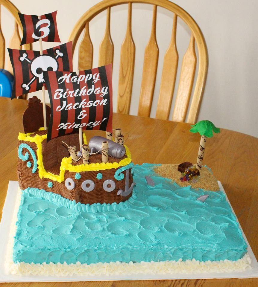 Pirate Ship birthday cakeHooks Jolly RogerJake and the Neverland