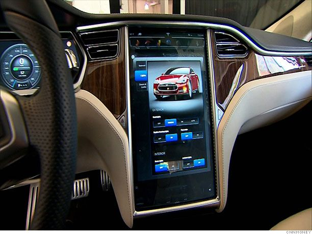 inside the tesla model s screens models and cars. Black Bedroom Furniture Sets. Home Design Ideas