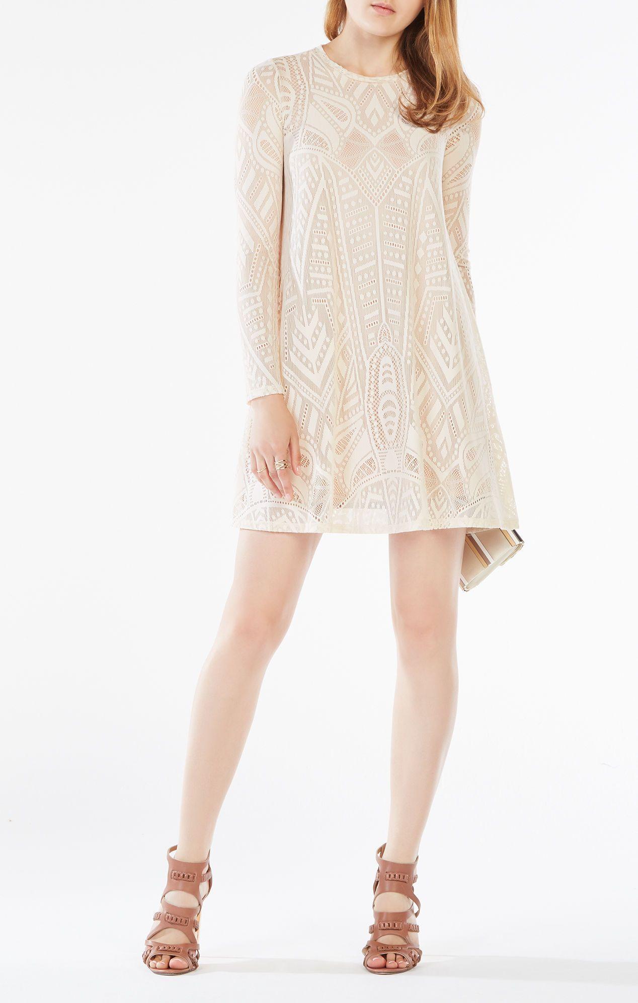 47df38b4a4 Natyly Long-Sleeve Lace Dress