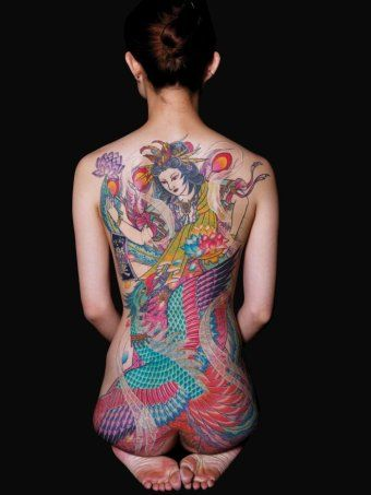 Inked in and covered up the blotted history of japanese for Nude tattooed chicks