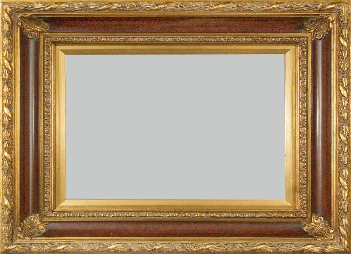 Gold Leaf Design With Scooped Royal Plum Moulding 5 75 Wide Wall Frame Frames On Wall Frame Leaf Design