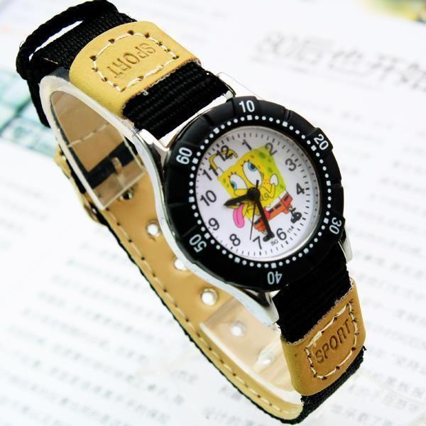 Watches 2018 New Children Boys Girls Fashion Cool Cartoon Spongebob Quartz Wrist Watches Students Kids Fashion Leather Strap Watch