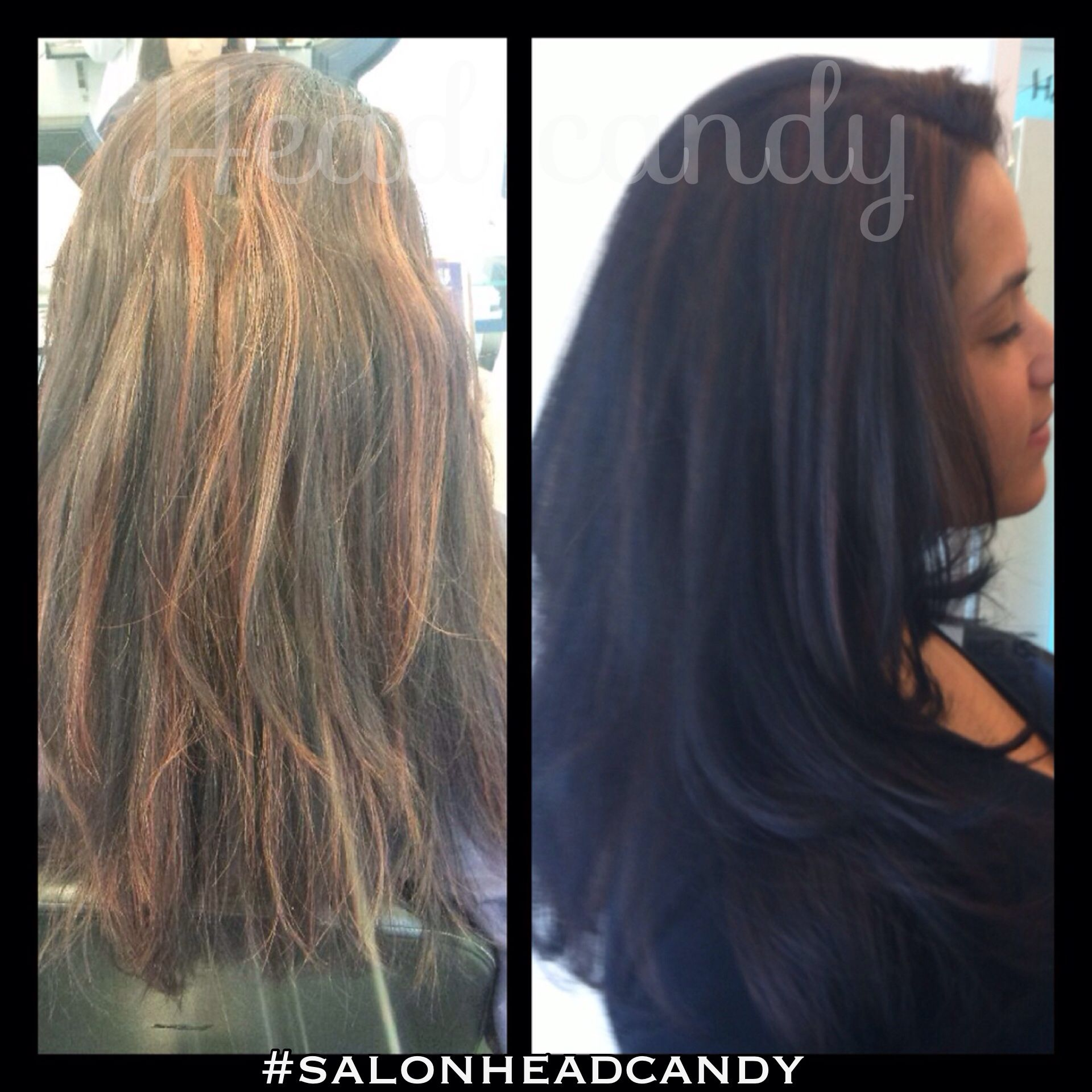Gorgeous makeover by christina from washed out red highlights to