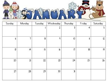 Editable Monthly Calendars   School Teacher And