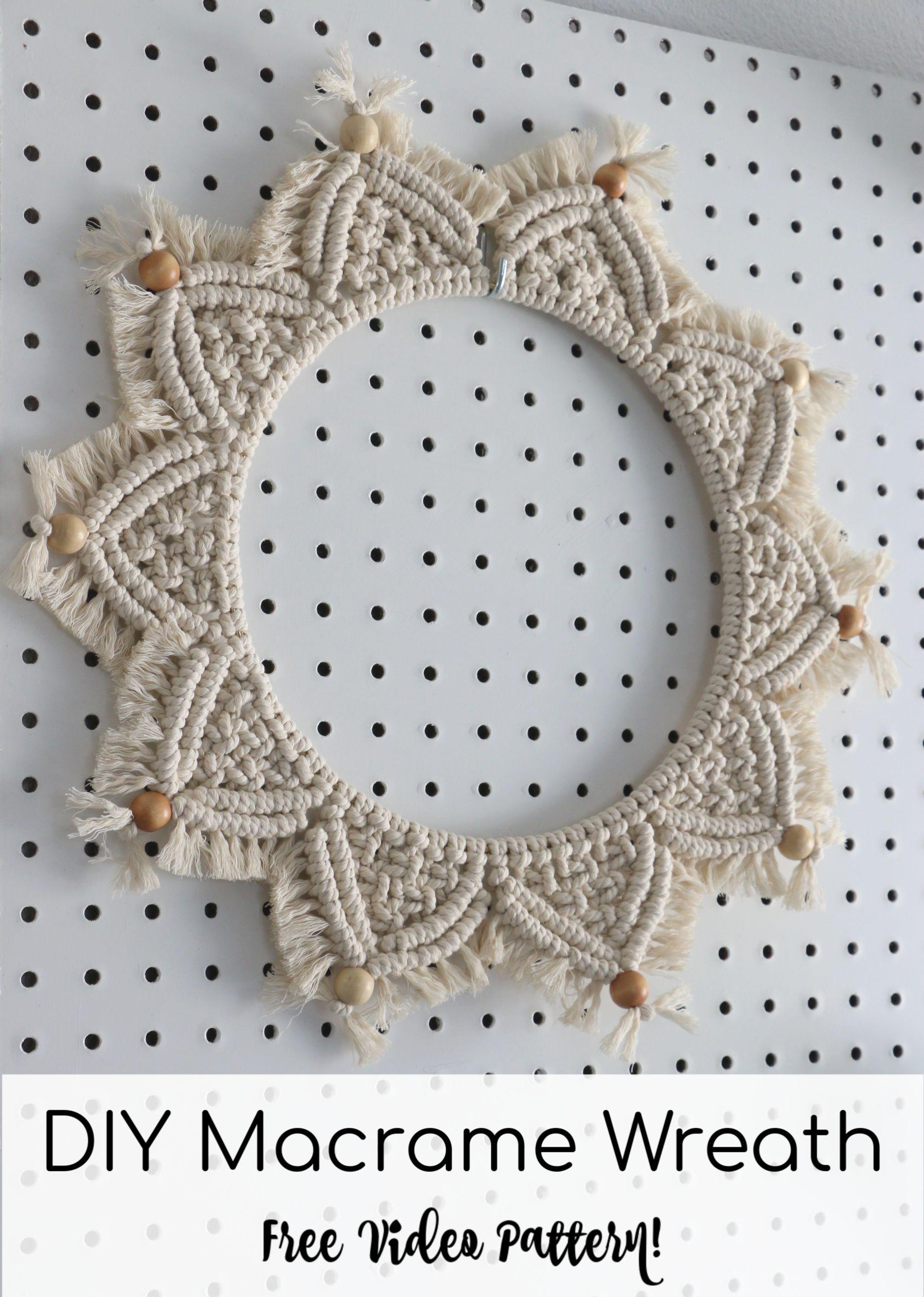 Photo of DIY Macrame Wall Hanging Mandala Wreath