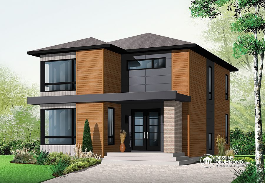 Plan De Maison Unifamiliale W3713, Description Du Plan Rez De Chaussée:  Vestibule