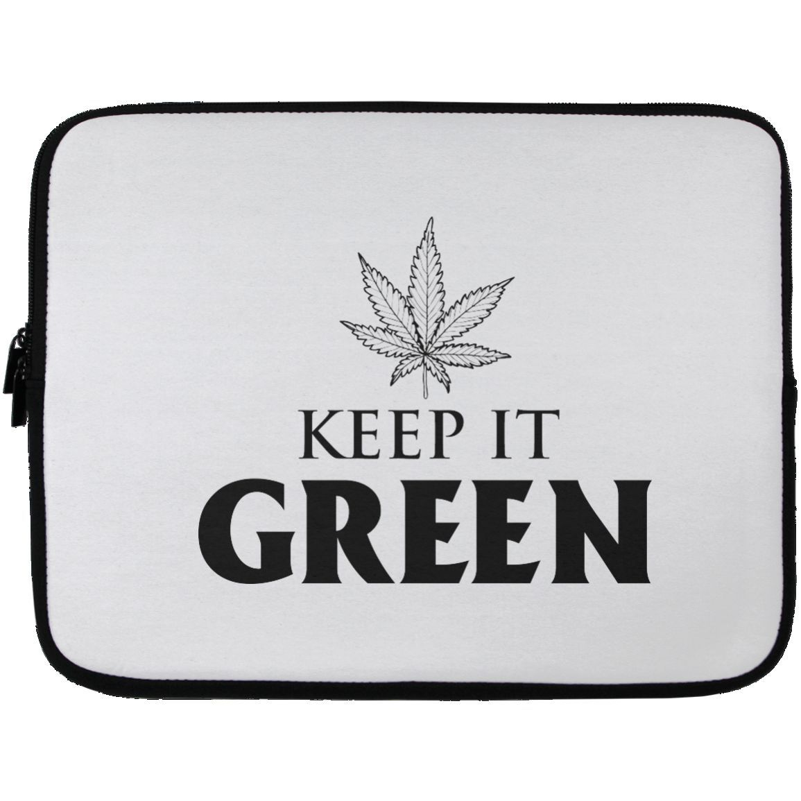 Keep It Green Laptop Sleeve - 13 inch