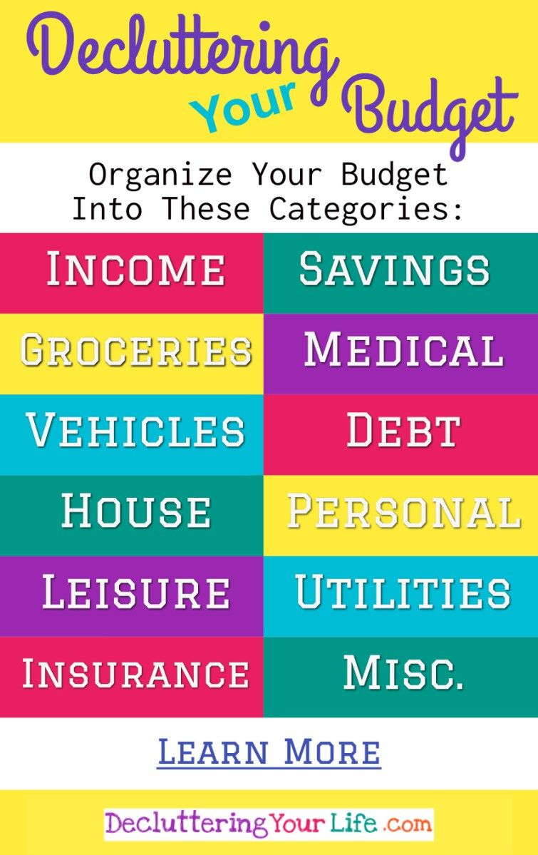Decluttering Your Budget How To Figure Out Where Your Money Goes