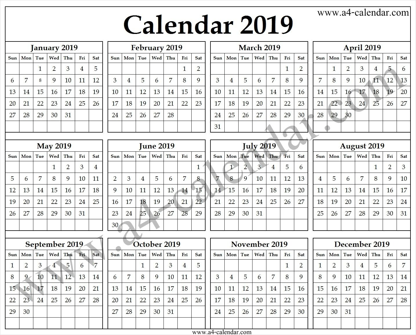 Online Calendar 2019 Uk 2019 Calendar Template Pinterest