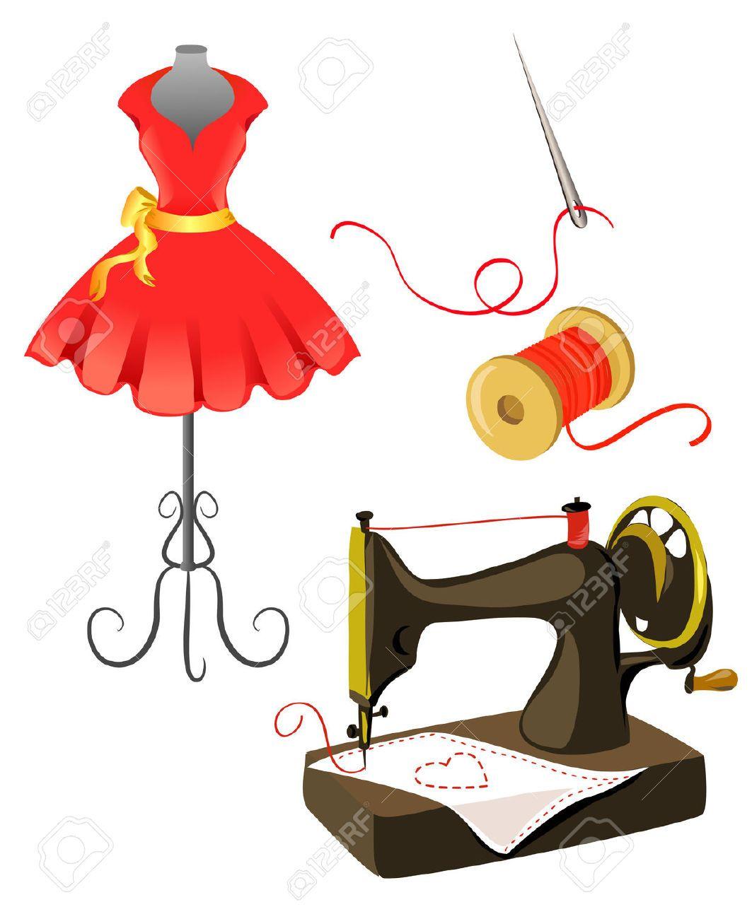 Ilustraciones maquinas de coser buscar con google costura