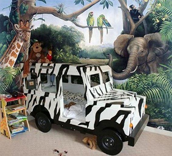 Kids Bedroom Jungle Theme dormitorio -animales-decorar-6 | quarto de bebê | pinterest
