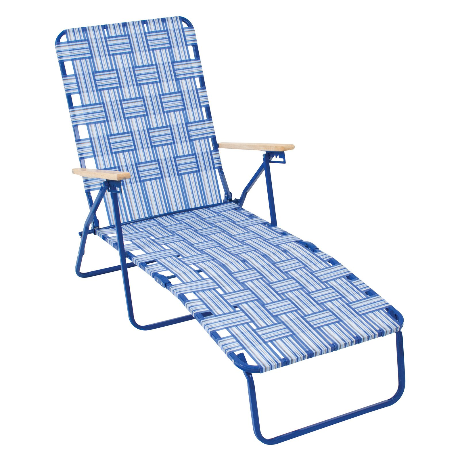 Outdoor Rio Brands Rio Deluxe Folding Web Chaise Lounge